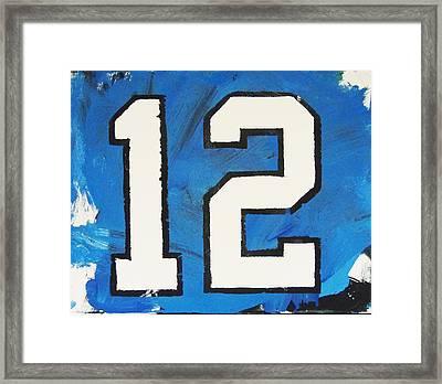 Seahawks Fan Framed Print