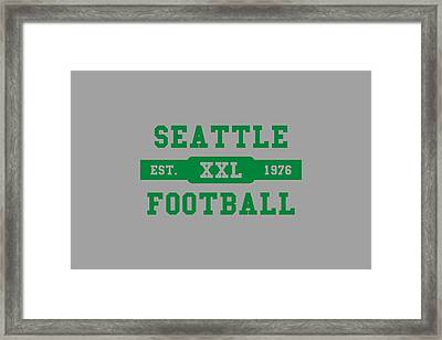 Seahawks Retro Shirt Framed Print