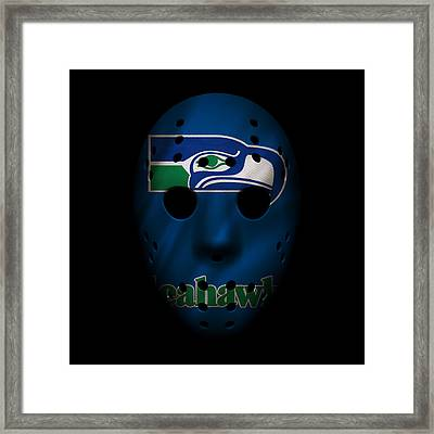 Seahawks War Mask 4 Framed Print