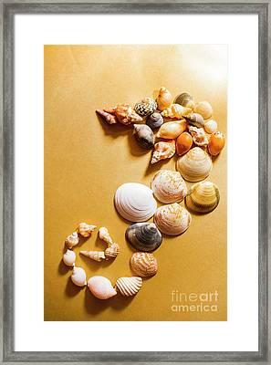 Seahorse Art Abstract Framed Print