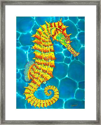 Seahorse - Exotic Art Framed Print