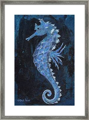 Framed Print featuring the painting Seahorse by Jamie Frier