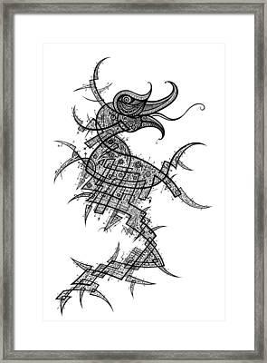 Seahorse Neuro-structural Matrix Framed Print by Raf Podowski