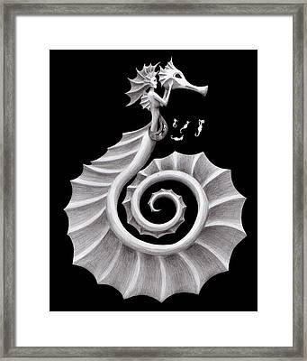 Seahorse Siren Framed Print by Sarah Krafft