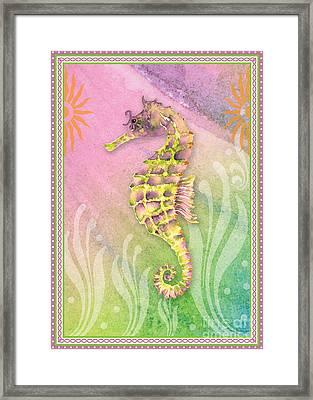Seahorse Violet Framed Print