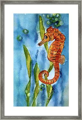 Seahorse With Sea Grass Framed Print
