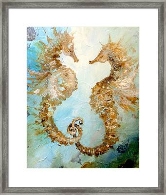 Seahorses In Love 2016 Framed Print by Dina Dargo
