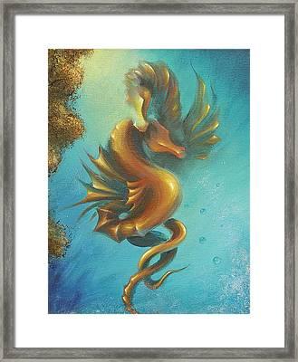 Seahorses In Love II  Framed Print by Dina Dargo
