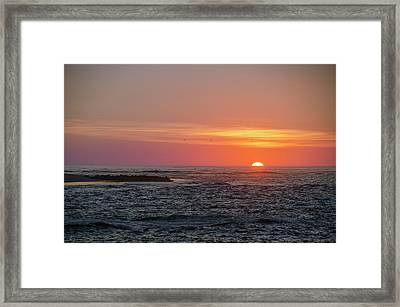 Seaisle Sunrise - Townsends Inlet Framed Print by Bill Cannon