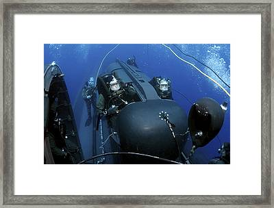 Seal Delivery Vehicle Team Members Framed Print by Stocktrek Images
