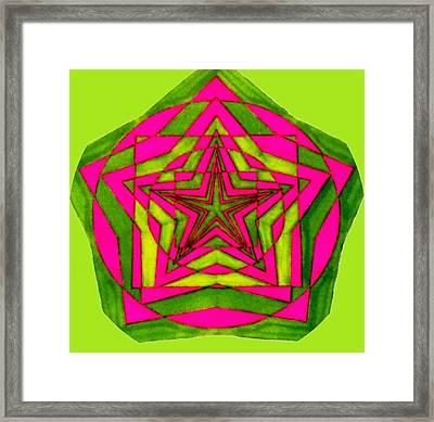 Seal Of Solomon Framed Print by Gabe Art Inc