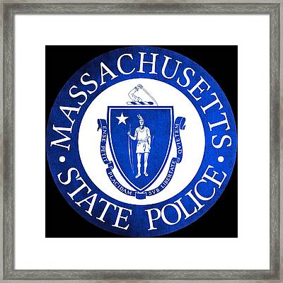 Seal Of The Massachusetts State Police Framed Print