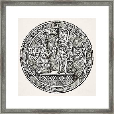Seal Of The University Of Prague From Framed Print by Vintage Design Pics
