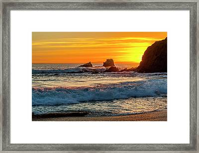 Seal Rock Sunset Framed Print by Kelley King