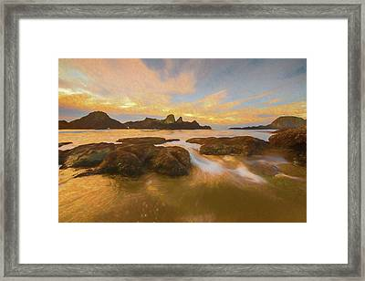 Seal Rock Sunset Framed Print