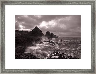 Seal Rock Thunder Framed Print