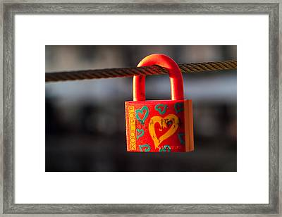 Sealed Love Framed Print