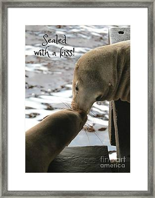 Sealed With A Kiss Framed Print by Carol Groenen