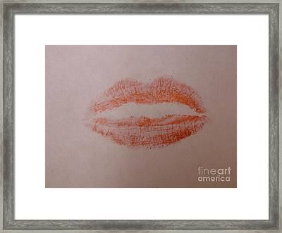 Sealed With A Red Kiss Framed Print