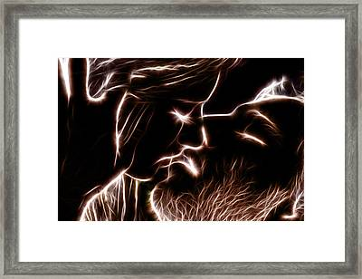 Framed Print featuring the digital art Sealed With A Kiss by Stephen Younts