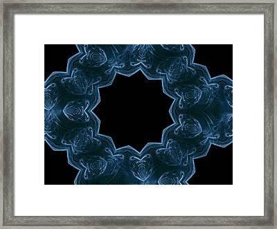 Seamless Kaleidoscope Blue Framed Print