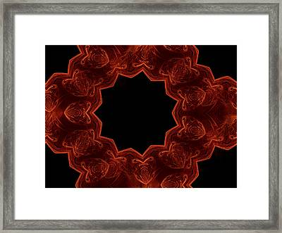 Seamless Kaleidoscope Copper Saturated Framed Print