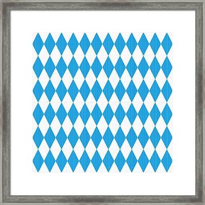 Seamless Oktoberfest Pattern With Fabric Texture Framed Print