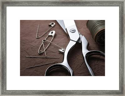 Seamstress Scissors Framed Print