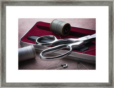 Seamstress Shears Framed Print