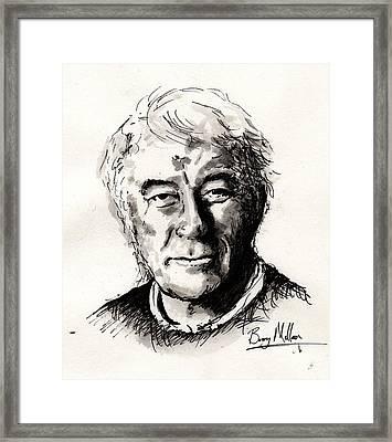 Seamus Heaney Framed Print