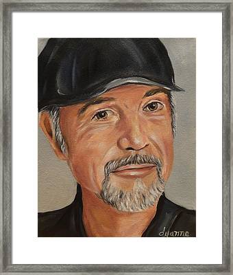 Sean Connery Oil Painting Framed Print by Dyanne Parker