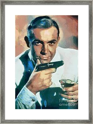 Sean Connery Framed Print by Sergey Lukashin
