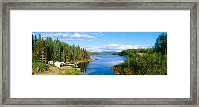 Seaplane On Talkeetna Lake, Alaska Framed Print