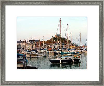 Seaport Of St. Ives England Framed Print by Mindy Newman