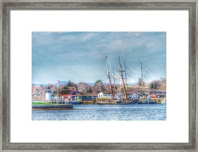 Seaport Serenity  Framed Print