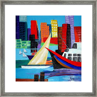 Seaport Framed Print by Susan Kubes