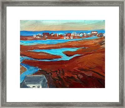 Sea Marsh Sunset- Wells Beach Framed Print