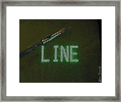 Search Engines Crawl For Text Framed Print by Contemporary Luxury Fine Art