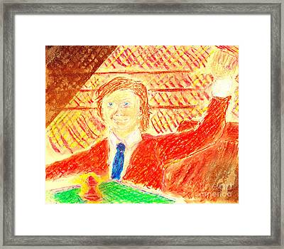 Search For Bobby Fischer Framed Print by Richard W Linford