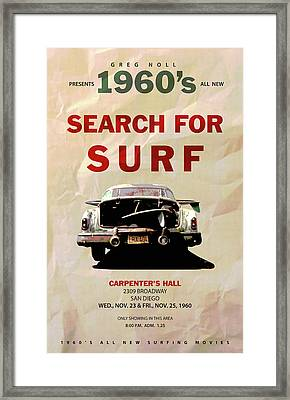 Search For Surf Framed Print