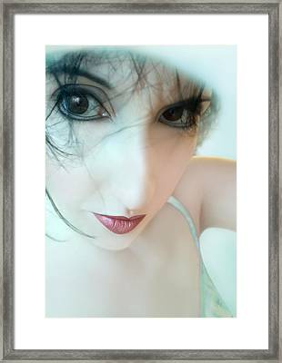 Searching For Innocence Lost - Self Portrait Framed Print