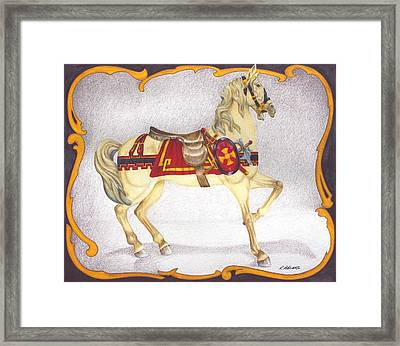 Searching For The Brass Ring No. Seven Framed Print