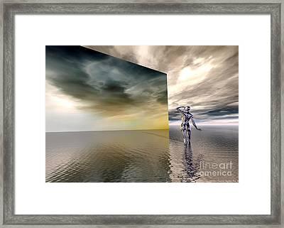 Searching Framed Print by Sandra Bauser Digital Art