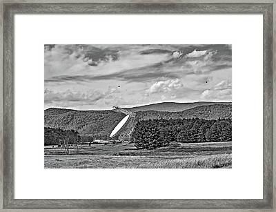 Searching The Sky 2 Bw Framed Print by Steve Harrington