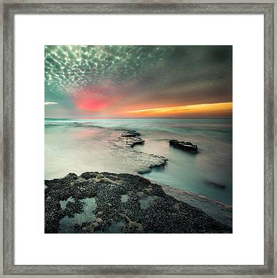 Searchlight Sunset Framed Print