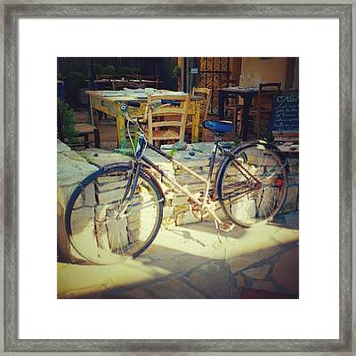Sears Bicycle. Old School Way To Get Framed Print