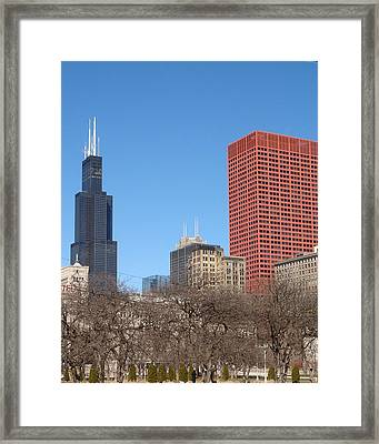 Sears Tower Framed Print by Wayne Whitney