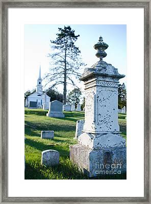 Searsport Cemetery Framed Print by Jennifer Booher