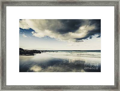 Seas And Storm Cloud Reflections Framed Print by Jorgo Photography - Wall Art Gallery