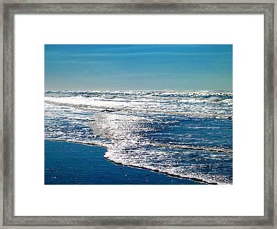 Seas Of Blue Framed Print by Mg Blackstock